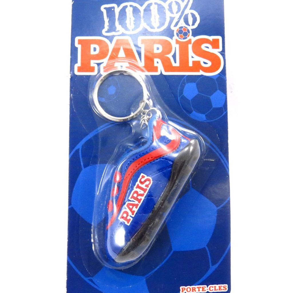 Porte-clés \'100% Paris\' bleu - [J7268]