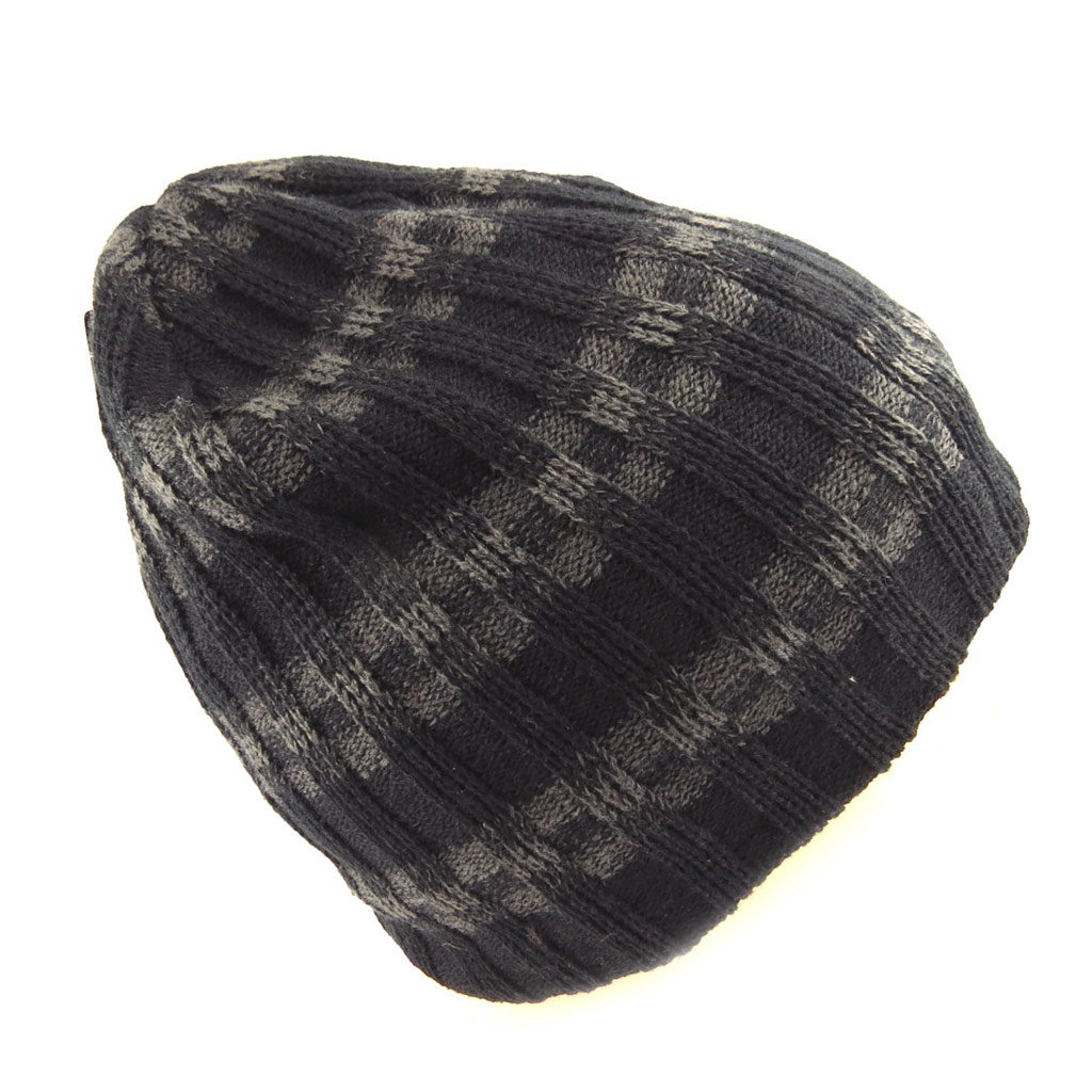 Bonnet \'Indispensable\' noir gris - [Q5244]