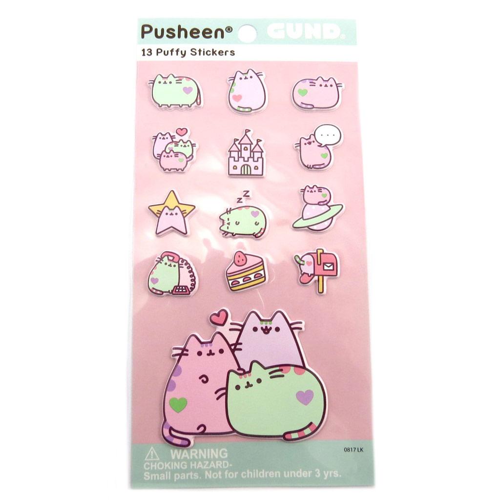 Planche de 13 stickers \'Pusheen\' pastel - 185x9 cm - [P8890]