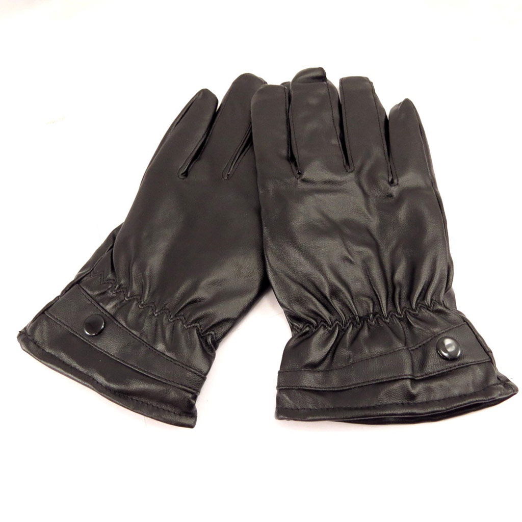 Gants cuir \'Indispensable\' noir - [L0638]