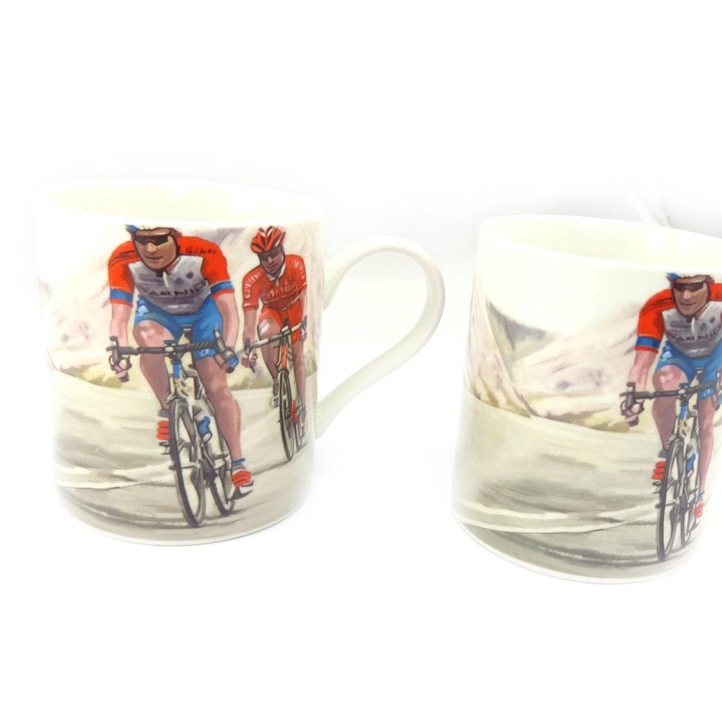 Mug porcelaine \'Cyclisme\' - 95x80 mm - [K5024]