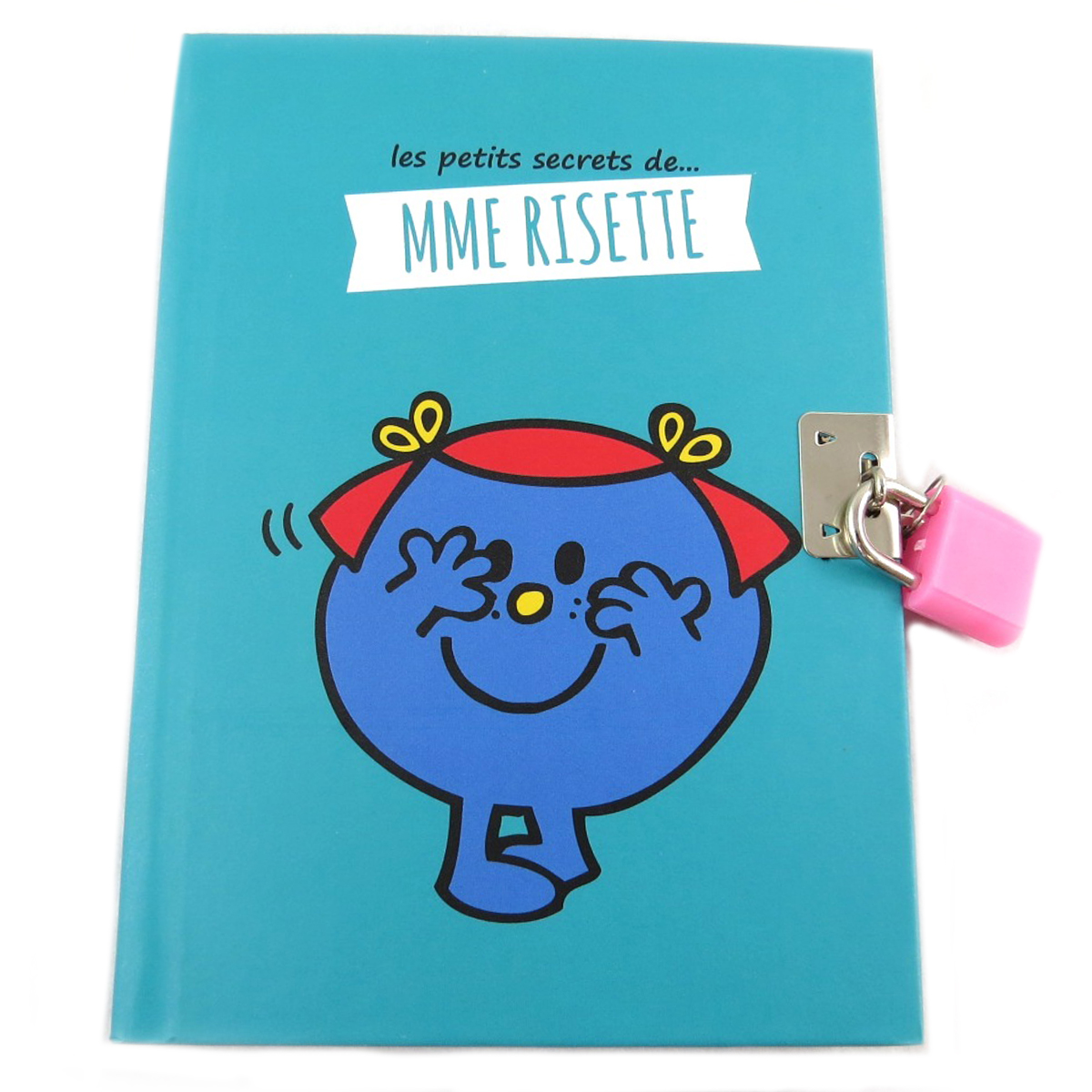Journal Intime \'Monsieur Madame\' turquoise (Mme Risette) - 15x11 cm - [Q0622]