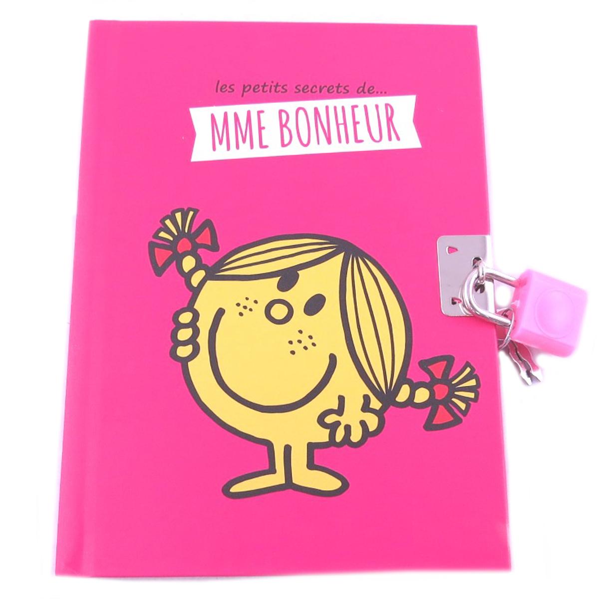 Journal Intime \'Monsieur Madame\' fuschia (Mme Bonheur) - 15x11 cm - [Q0623]