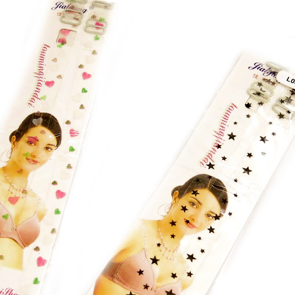 2 paires bretelles soutien-gorge \'Scarlett\' coeur étoile - [L0692]