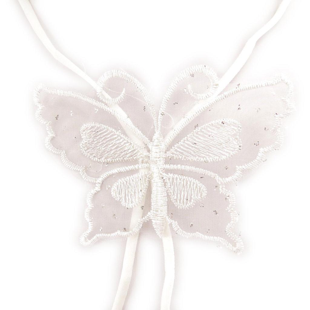 Bretelles soutien-gorge \'Scarlett\' papillon blanc - [L0694]