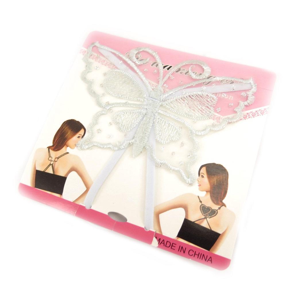 Bretelles soutien-gorge \'Scarlett\' papillon bleu ciel - [L0695]