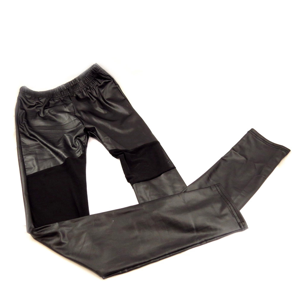 Pantalon \'Indispensable\' noir brillant - [L0701]