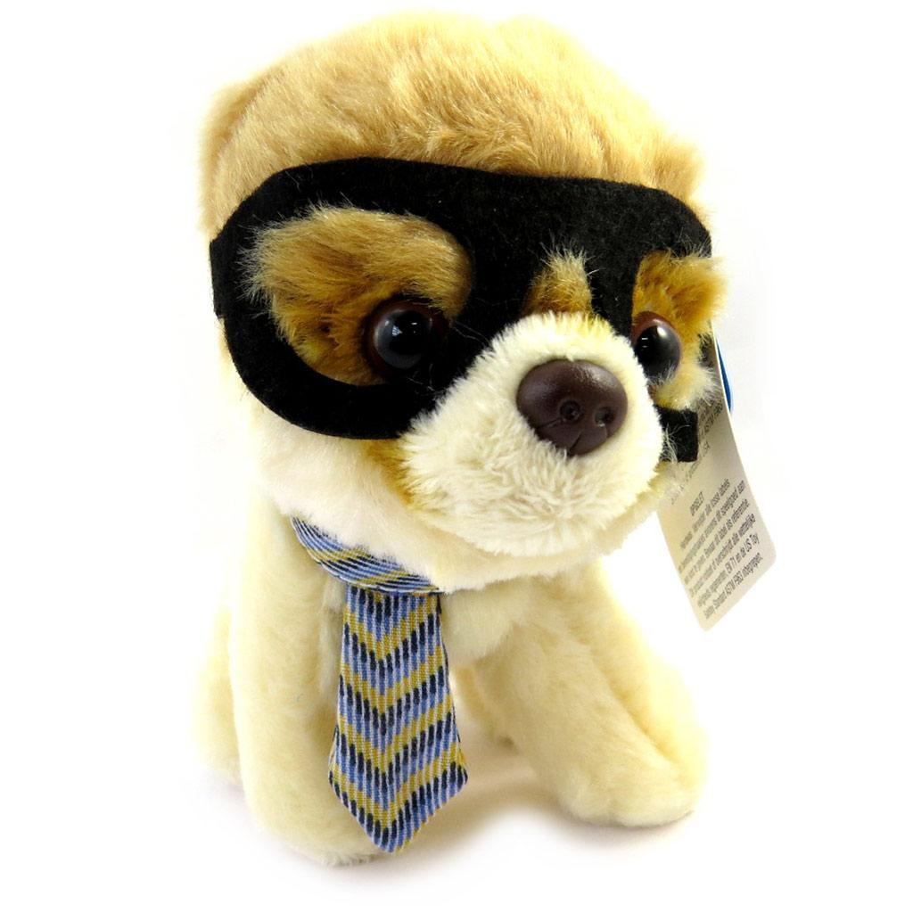 Peluche design \'Baby Chow Chow à lunettes\' beige (23 cm) - [M3809]