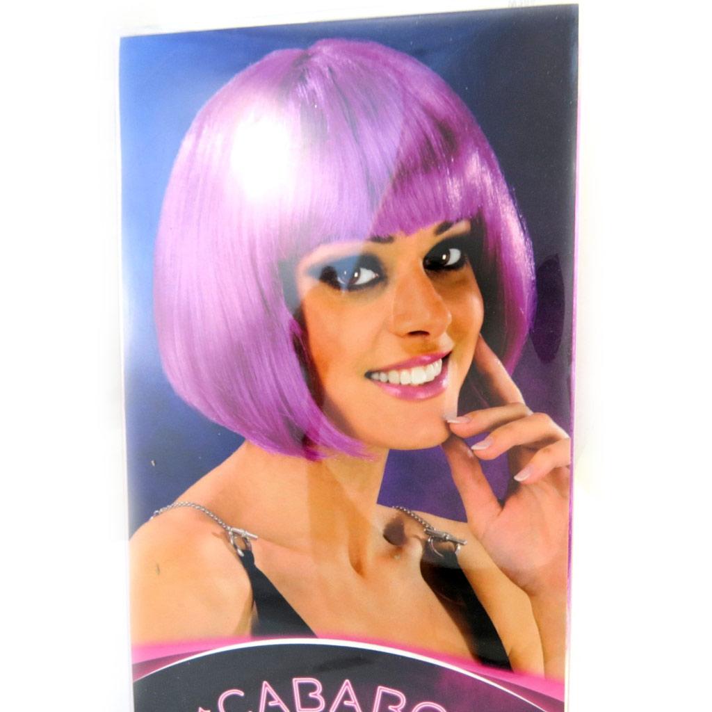 Perruque \'Cabaret\' violet (cheveux courts) 24 cm - [M3891]