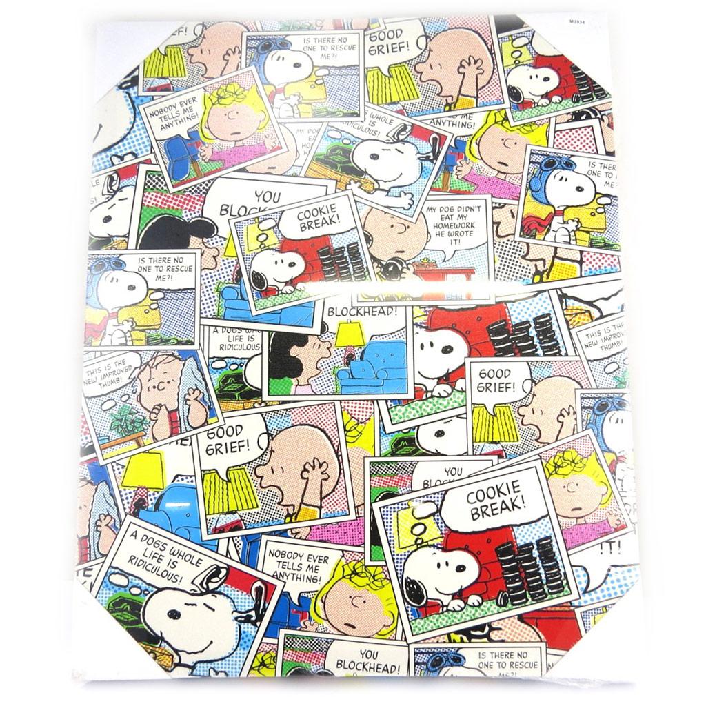 Toile créateur \'Snoopy\' multicolore patchwork BD (50x40 cm) - [M3934]