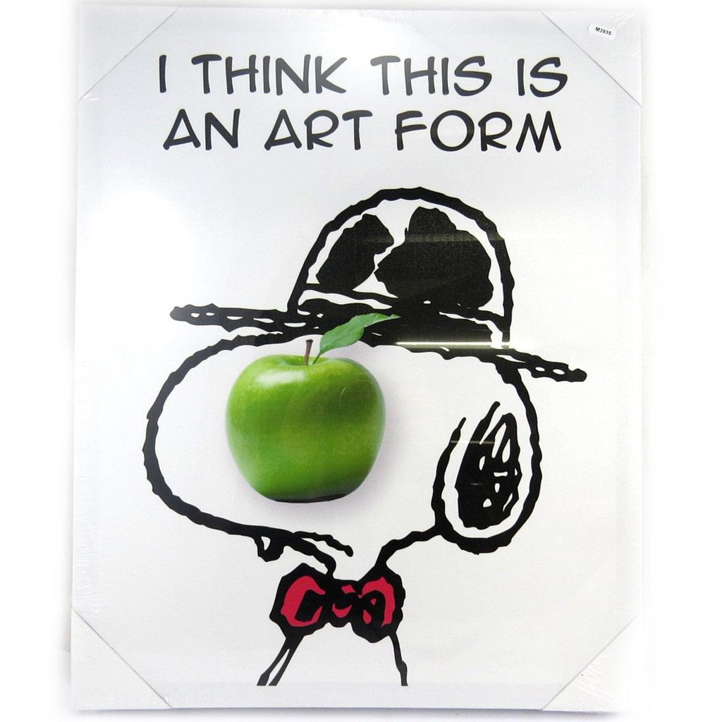 Toile créateur \'Snoopy\' pomme (50x40 cm) - [M3935]