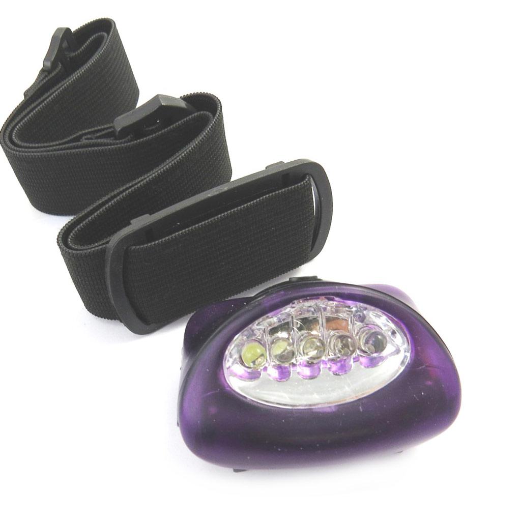 Lampe frontale \'Coloriage\' violet (5 leds) - [M3941]