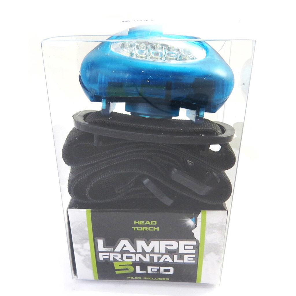 Lampe frontale \'Coloriage\' bleu (5 leds) - [M3942]