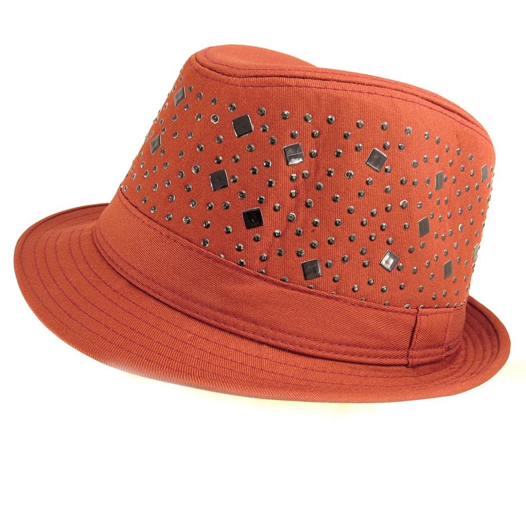 Chapeau Borsalino \'Maestro\' rouge acajou - [Q5333]
