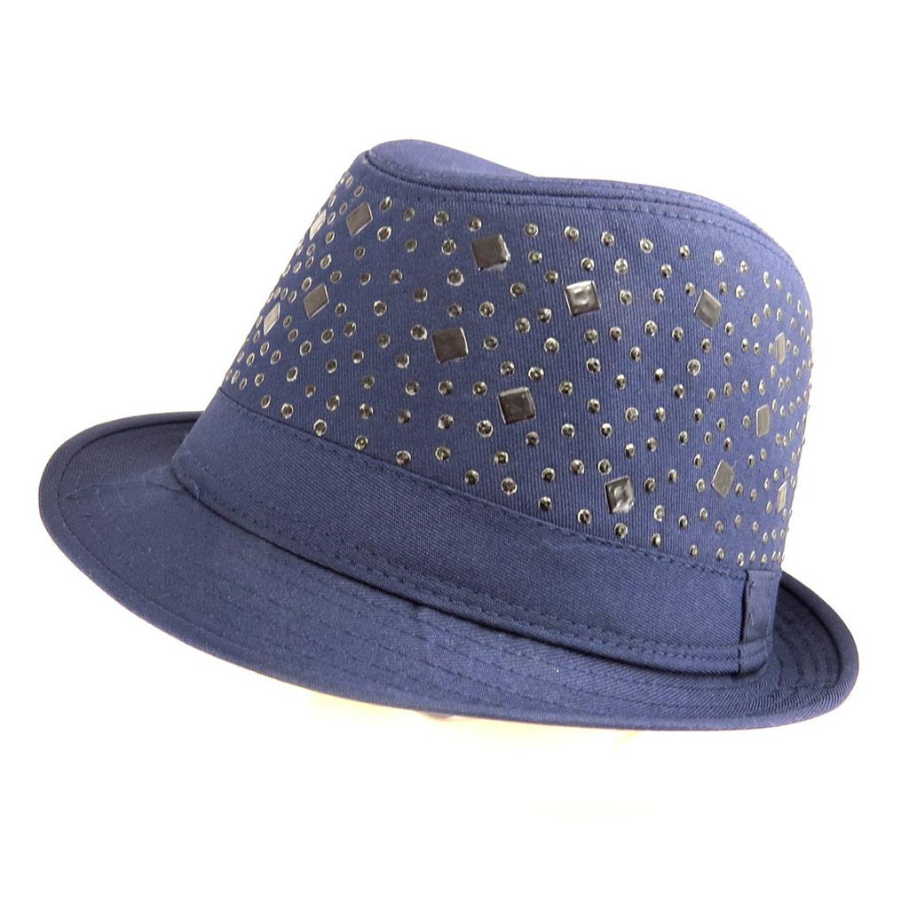 Chapeau Borsalino \'Maestro\' bleu - [Q5335]