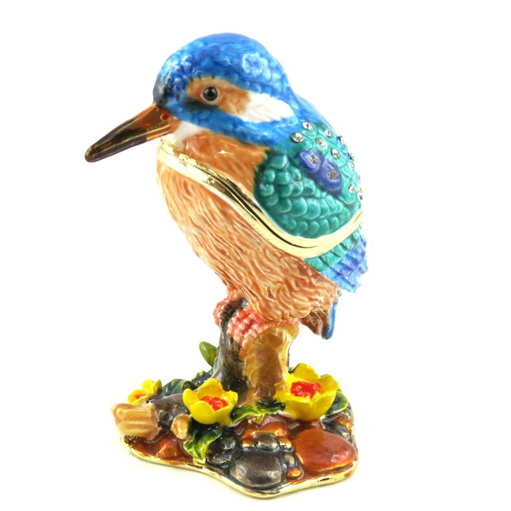 Coffret à Bijoux \'Martin Pécheur\' bleu orange - [M4021]