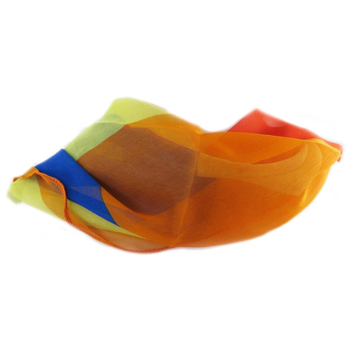 Carré voile \'Scarlett\' multicolore - 75x75 cm - [Q5367]