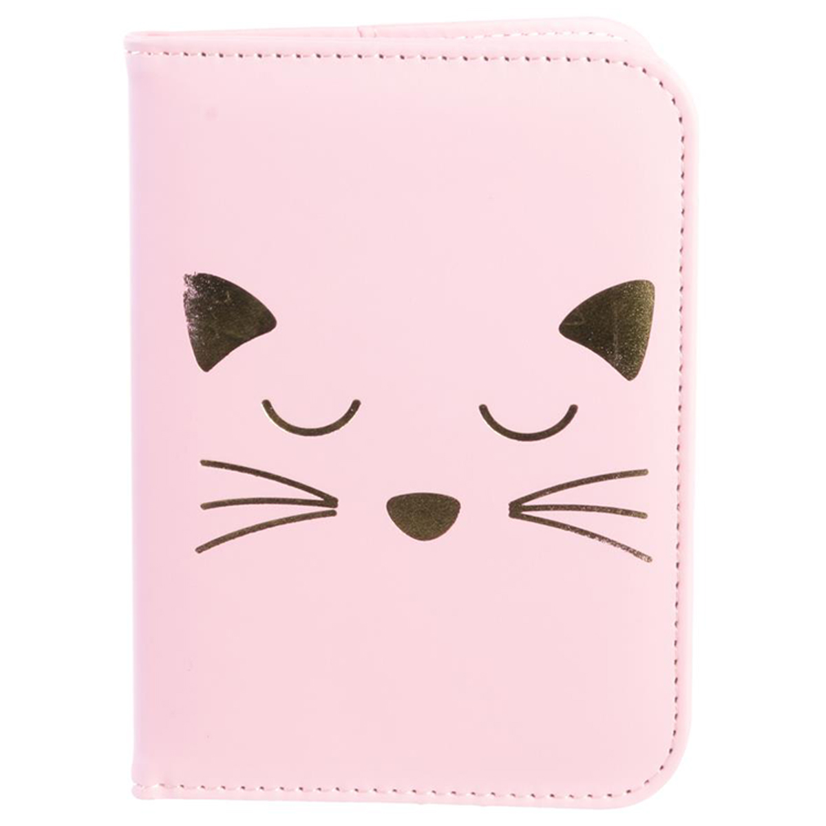 Etui passeport \'Chats\' rose - 14x10 cm - [Q5415]