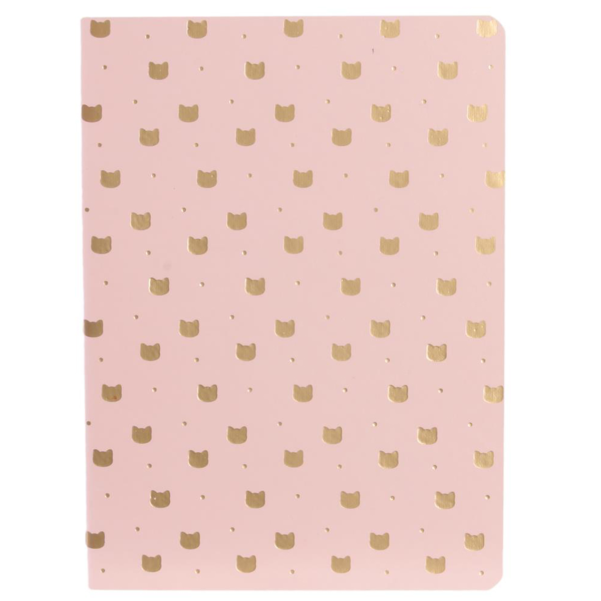 Carnet A6 \'Chats\' rose doré - 15x115x05 cm - [Q5433]