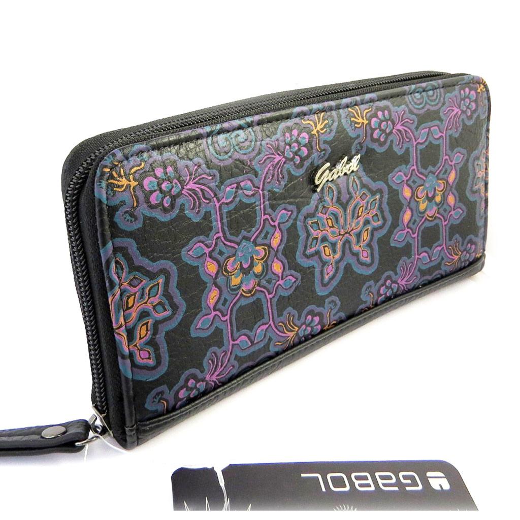 Portefeuille zippé \'Gabol\' noir violet (205x105x3 cm) - [M4444]