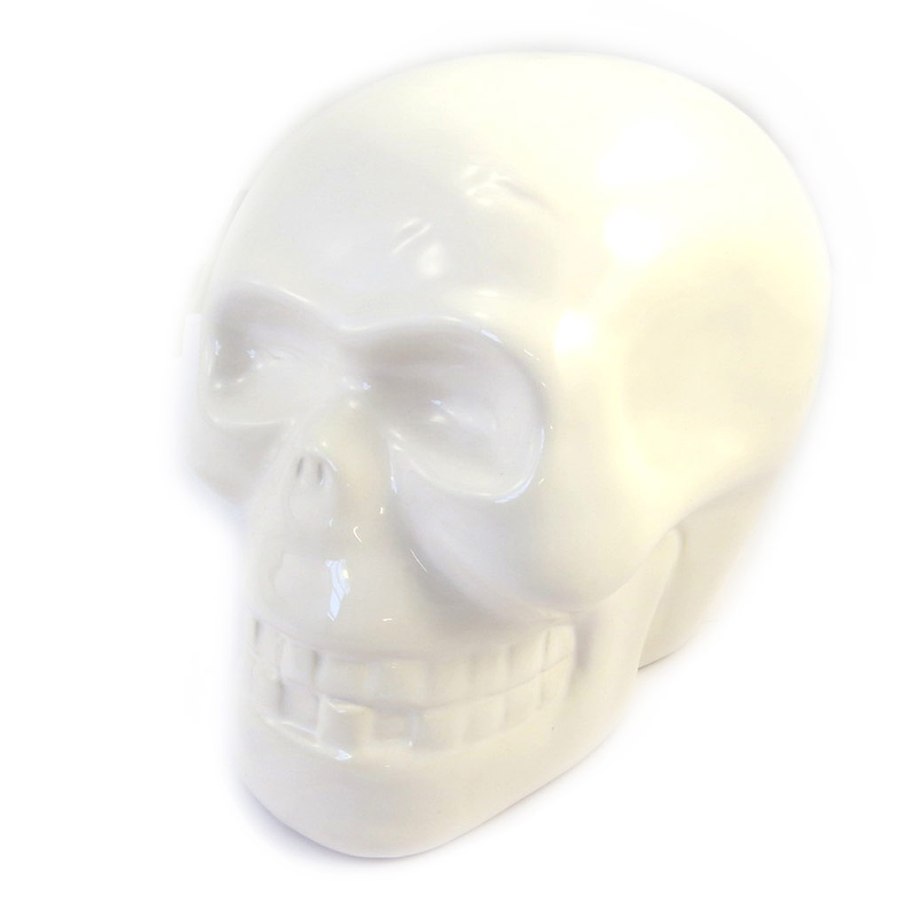 Tirelire \'Tête de Mort\' ivoire (S) - [M4663]