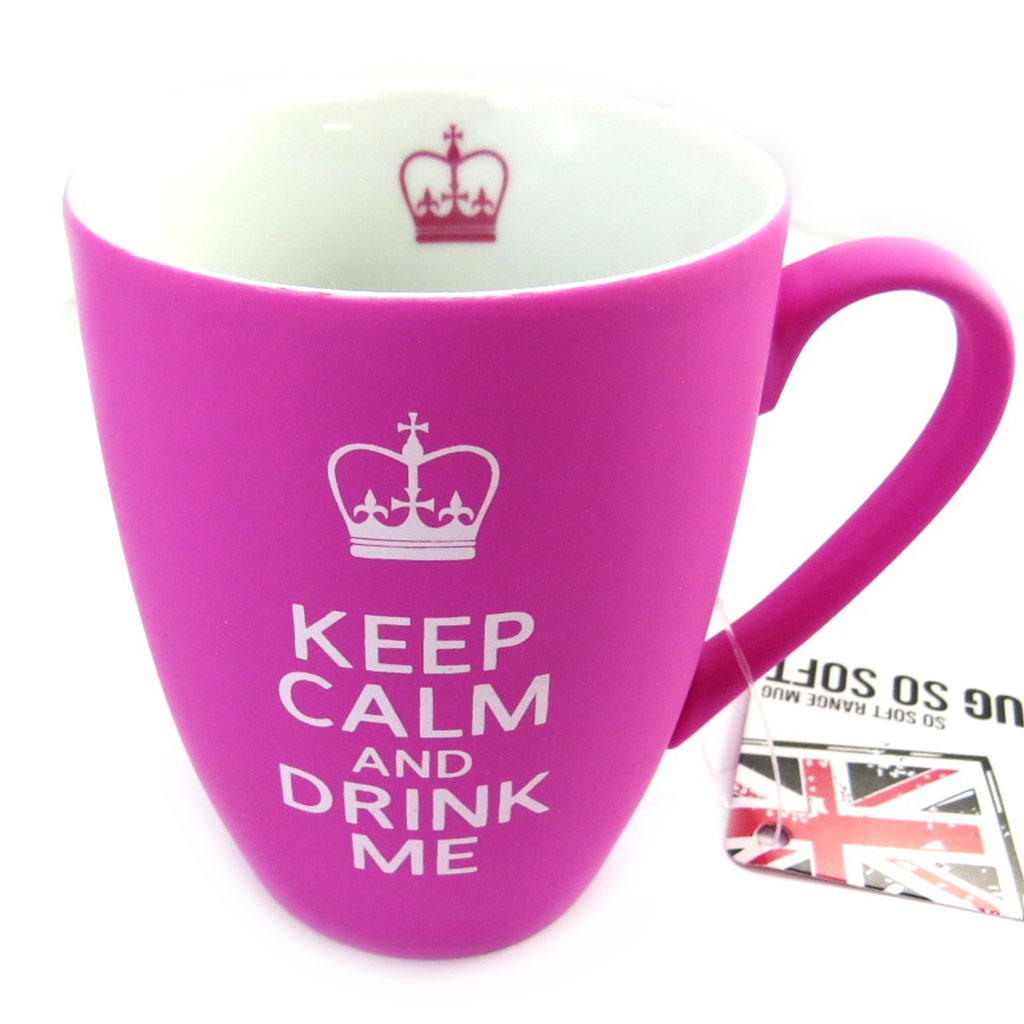 Mug céramique \'So British\' rose (250 ml) - [M4724]