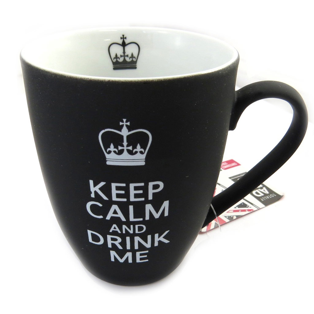 Mug céramique \'So British\' noir (250 ml) - [M4725]