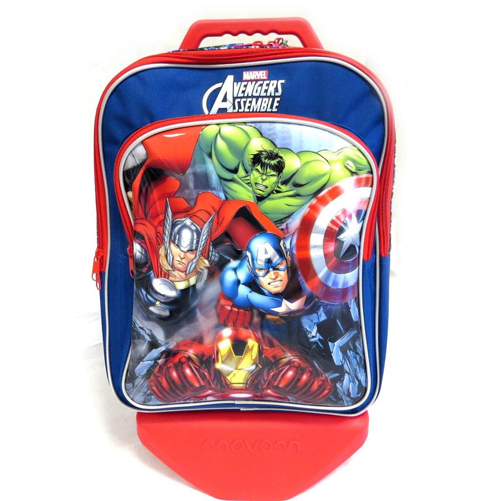 Trolley Scolaire \'Avengers\' bleu multicolore (42x33x22 cm) 2 compartiments - [M4923]