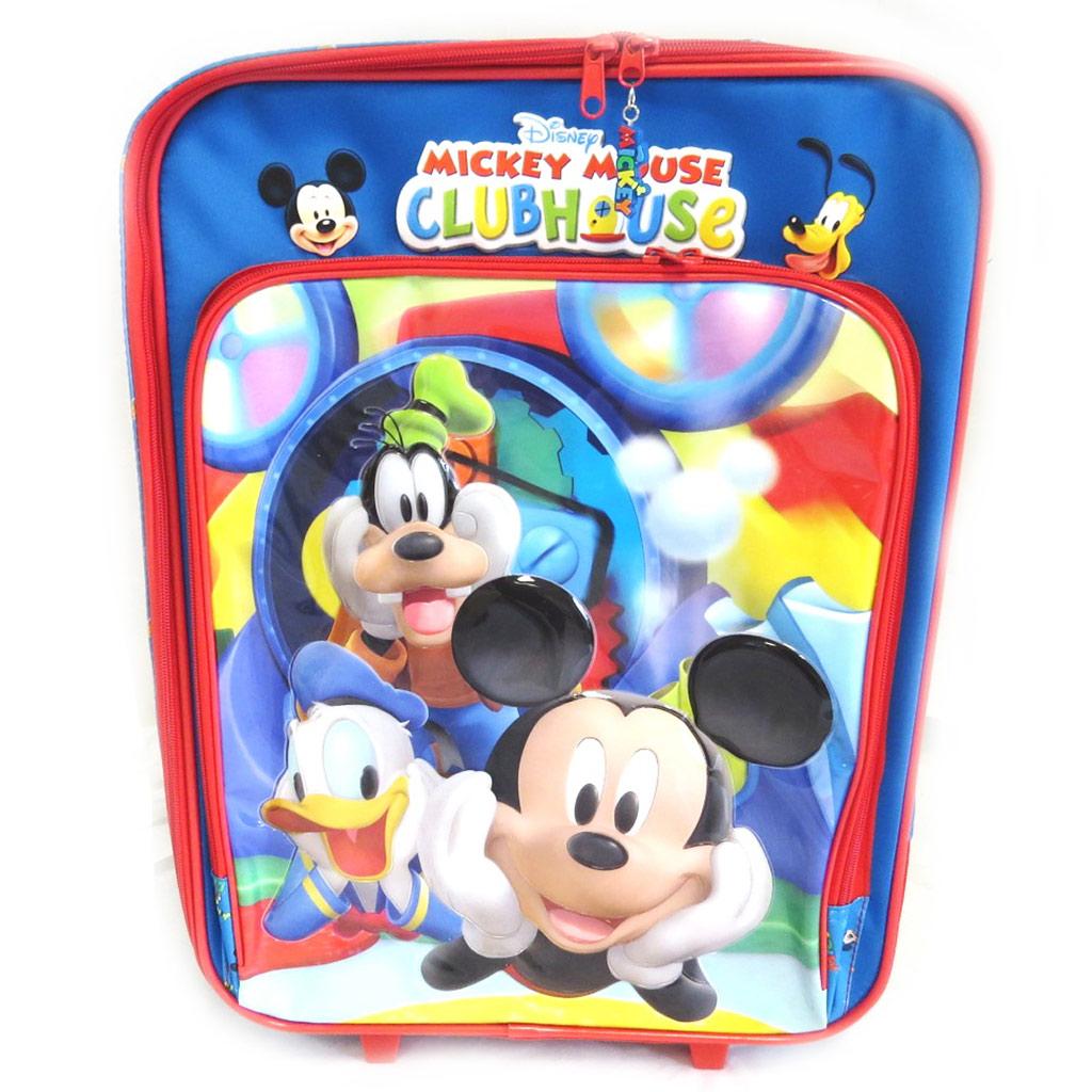 Valise trolley \'Mickey\' bleu tutti frutti (50 cm) - [M4925]