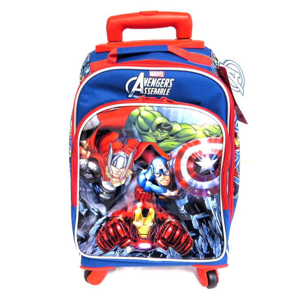 Trolley Scolaire \'Avengers\' bleu multicolore (44x33x21 cm) - [M4926]