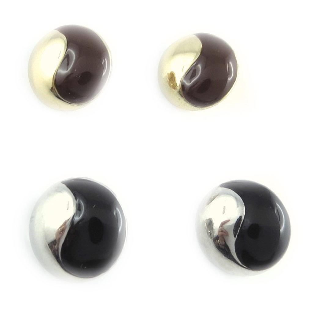 2 paire de clips Créateur \'Scarlett\' marron noir  - [L1397]