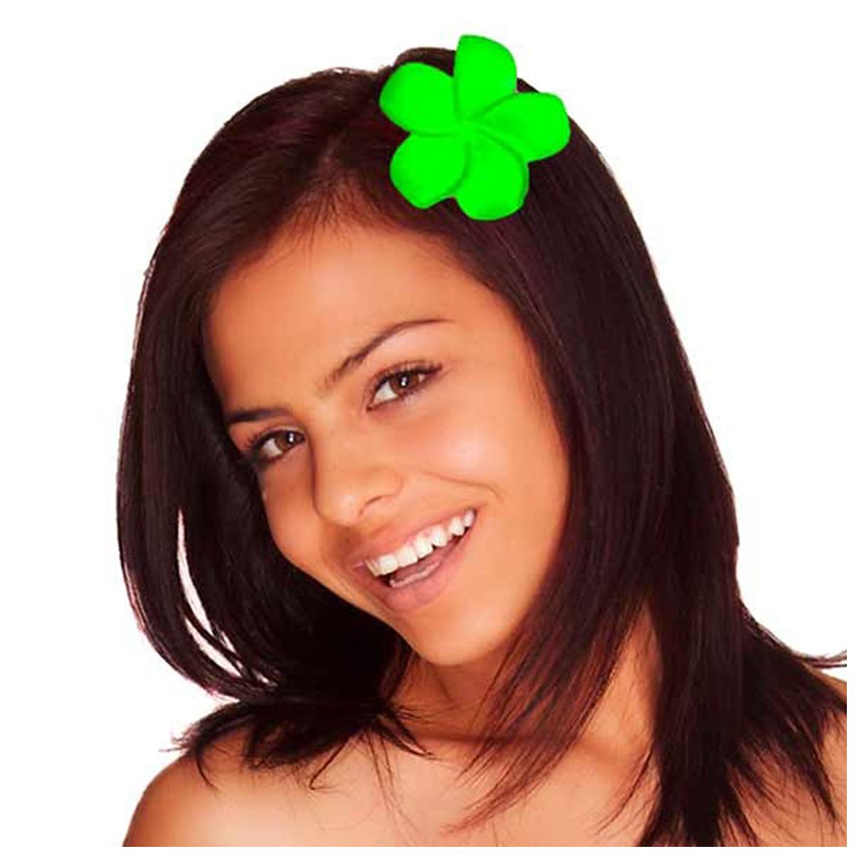 Pince fleur \'Vahiné\' vert - 5 cm - [Q5876]