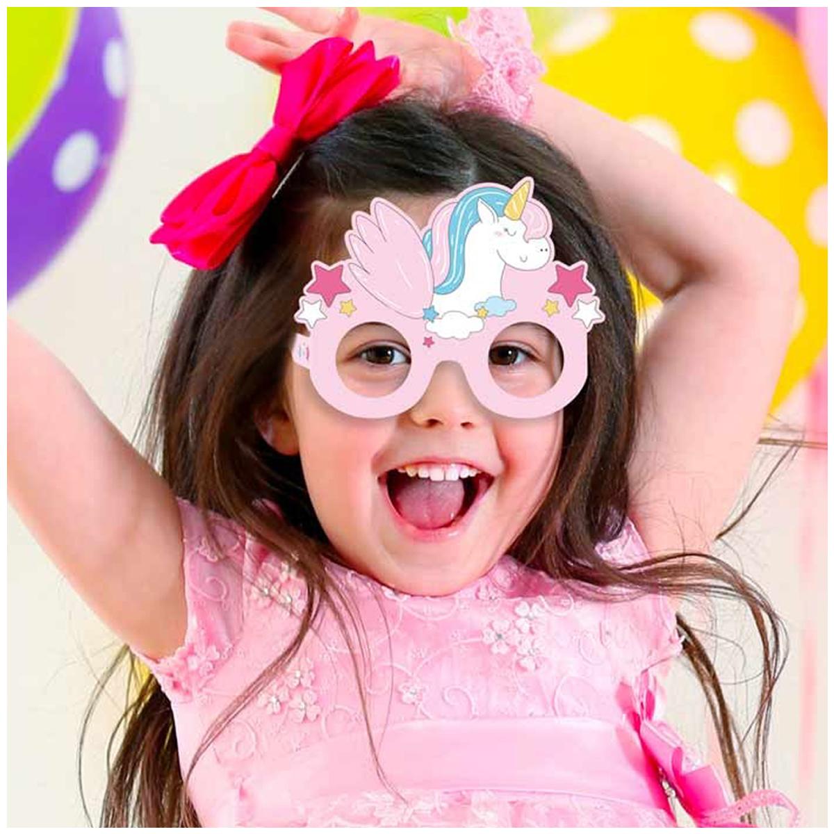 6 lunettes humoristiques enfant \'Licorne My Unicorn\' rose - 145x11 cm - [Q5990]