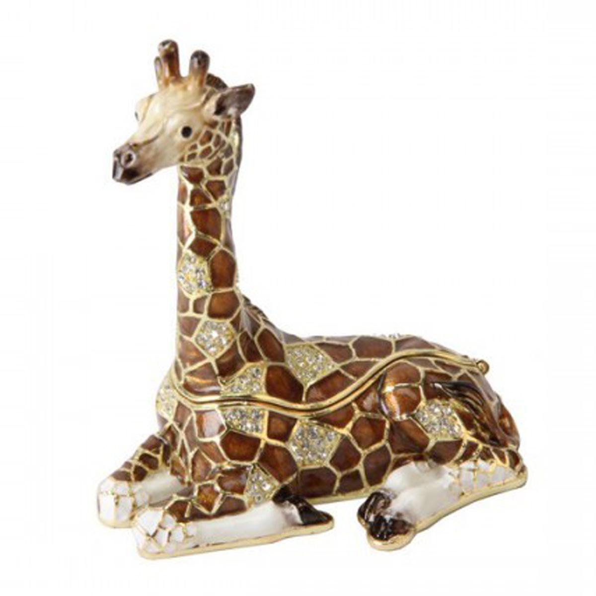 Coffret à Bijoux \'Girafe\' marron - 9x8x5 cm - [Q5999]