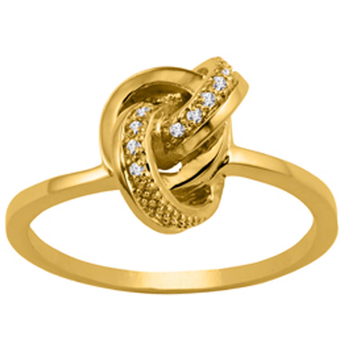 Bague plaqué or \'Déesse\' blanc doré - 11x8 mm - [Q6026]