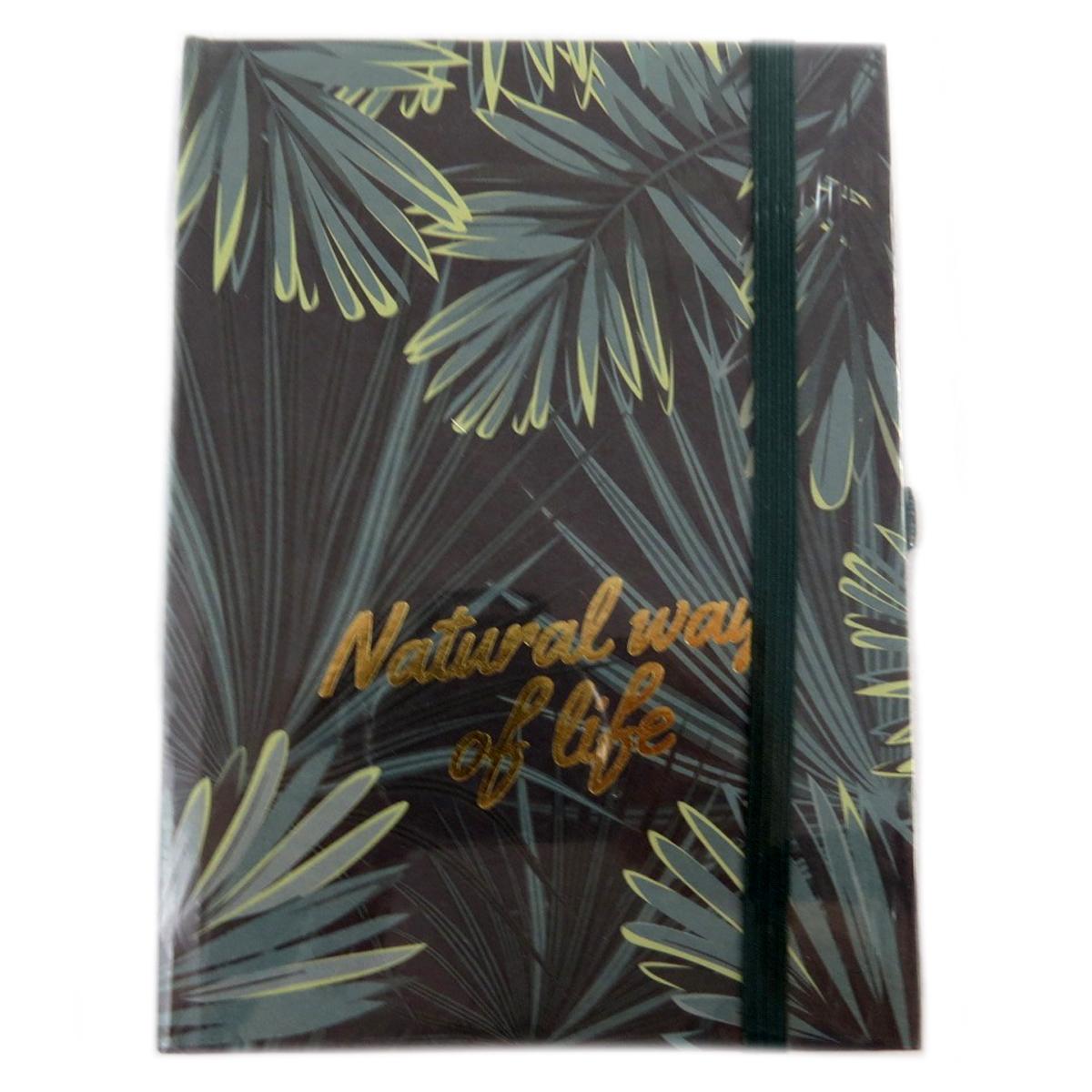 Carnet A6 \'Jungle\' vert - 15x11 cm - [Q0625]