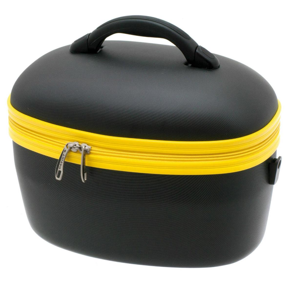 Vanity ABS \'Escapade\' noir jaune - 38x29x24 cm - [Q0635]