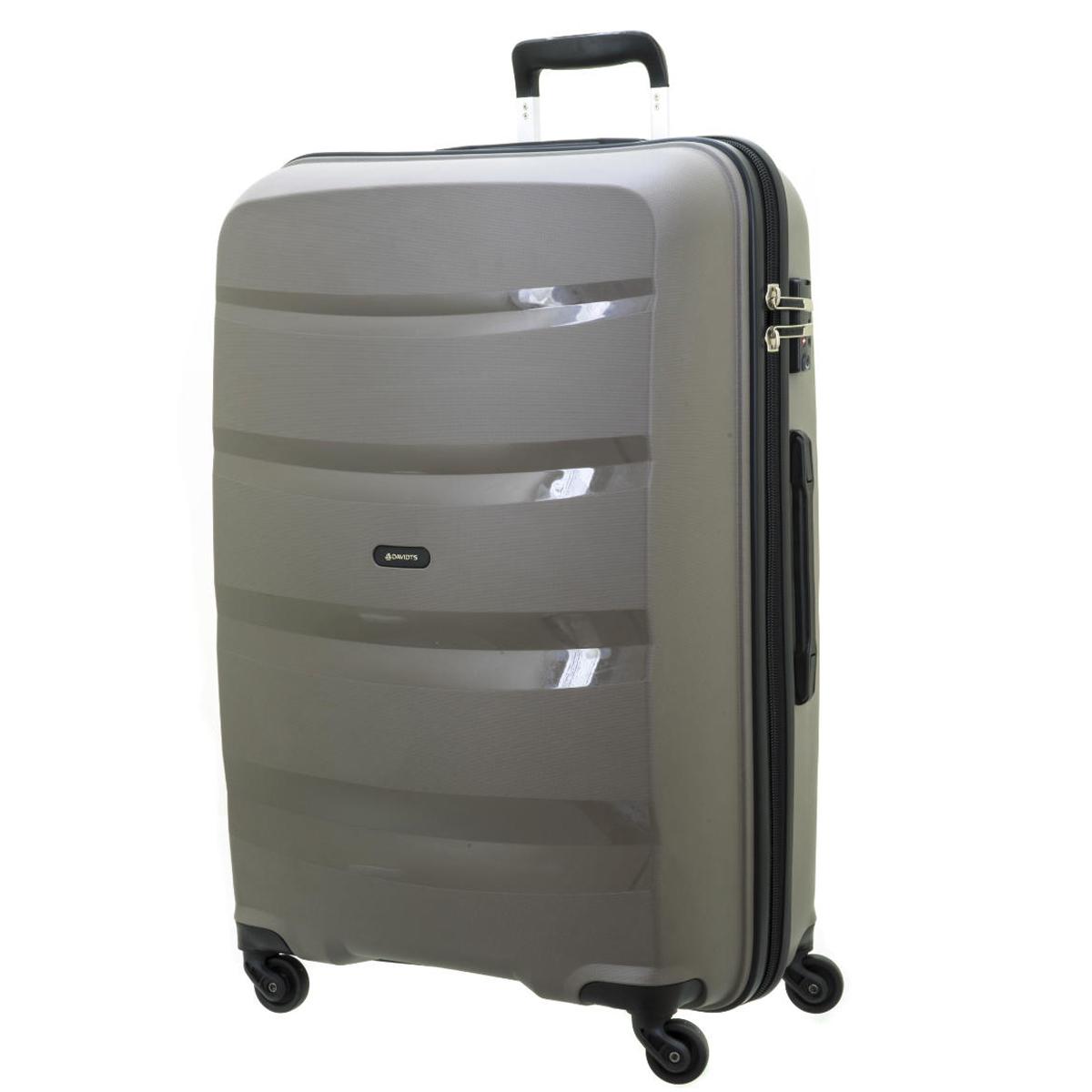 Valise trolley coque polypropylène \'Davidt\'s\' gris taupe - 74x49x30 cm - [Q0636]