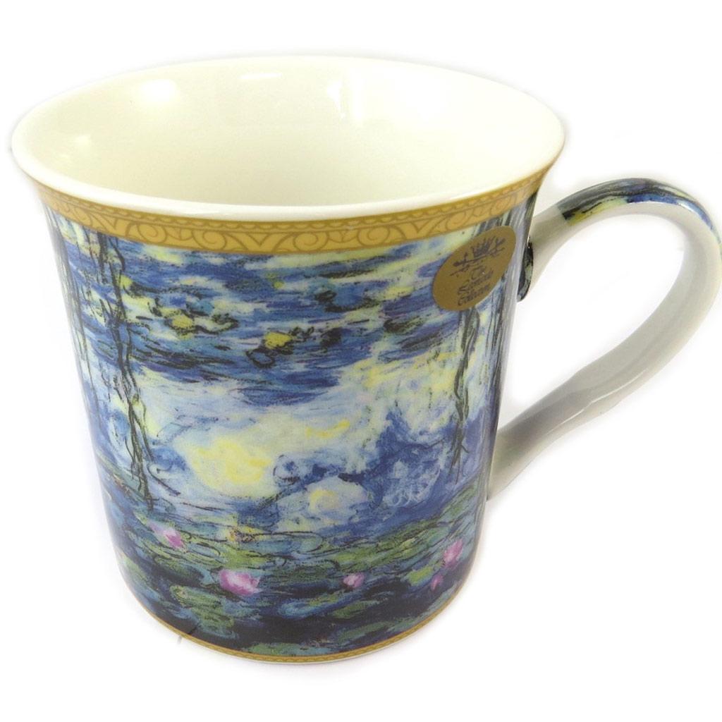 Mug porcelaine \'Claude Monet\' bleu (les Nymphéas ) - 115x85 cm - [P0331]