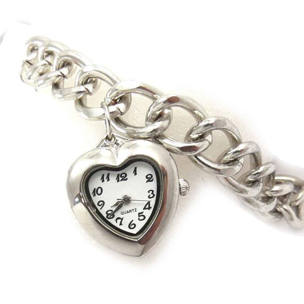 Bracelet \'Love\' blanc argenté (montre) - [J8064]