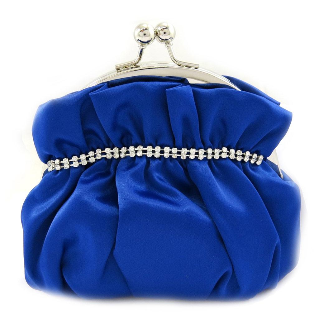 Sac Bourse \'Nina\' bleu strass - [L3570]