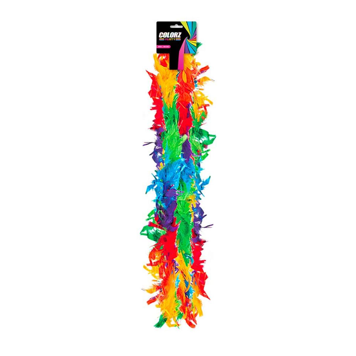 Boa \'Coloriage\' multicolore - 185 cm - [R2084]