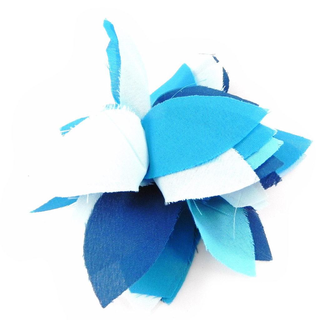 Broche Créateur \'Rose Féérique\' bleu - [H3059]