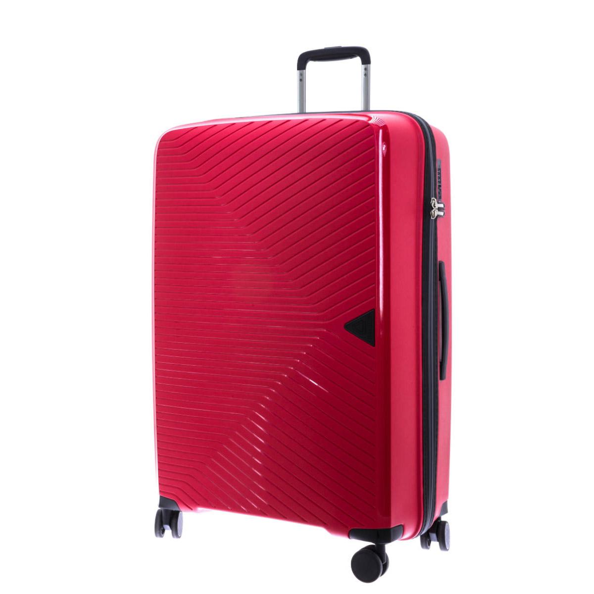 Valise trolley coque polypropylène \'Davidt\'s\' rouge - 77x53x32 cm - [Q9476]