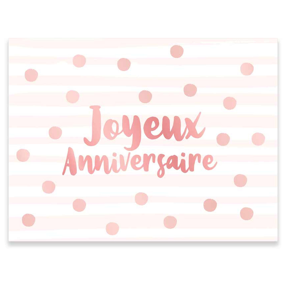 Pack de 12 sets de table papier \'Joyeux Anniversaire\' rose blush - 40x30 cm - [R2171]