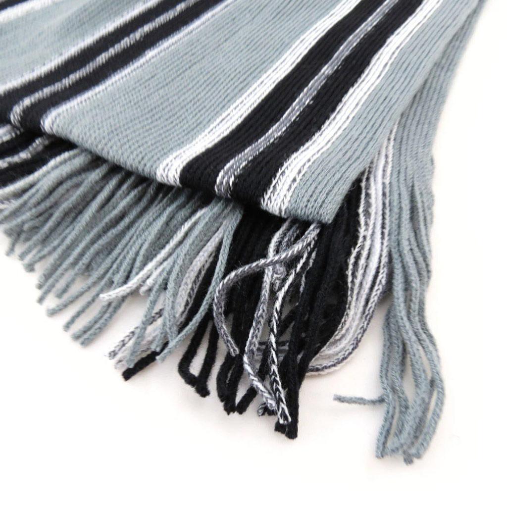 Echarpe créateur \'Enzo\' gris noir - [J2693]