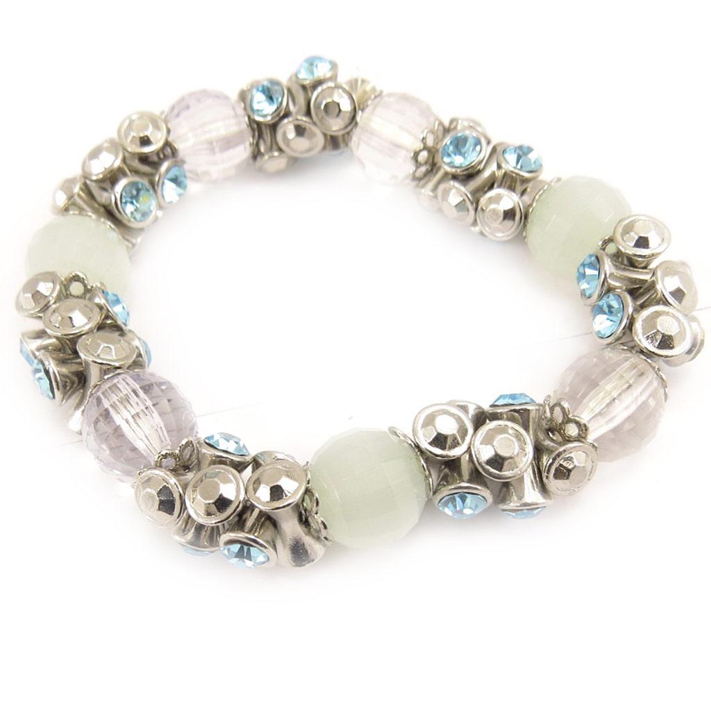 Bracelet Créateur \'Cristal Big Bang\' Turquoise  - [D2308]