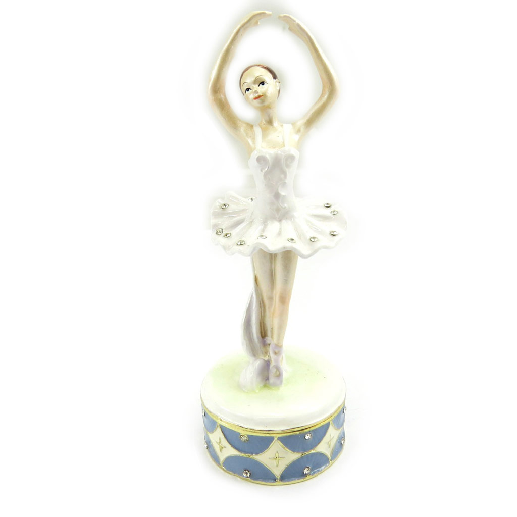 Coffret à Bijoux \'Ballerine\' blanc bleu - [L6467]