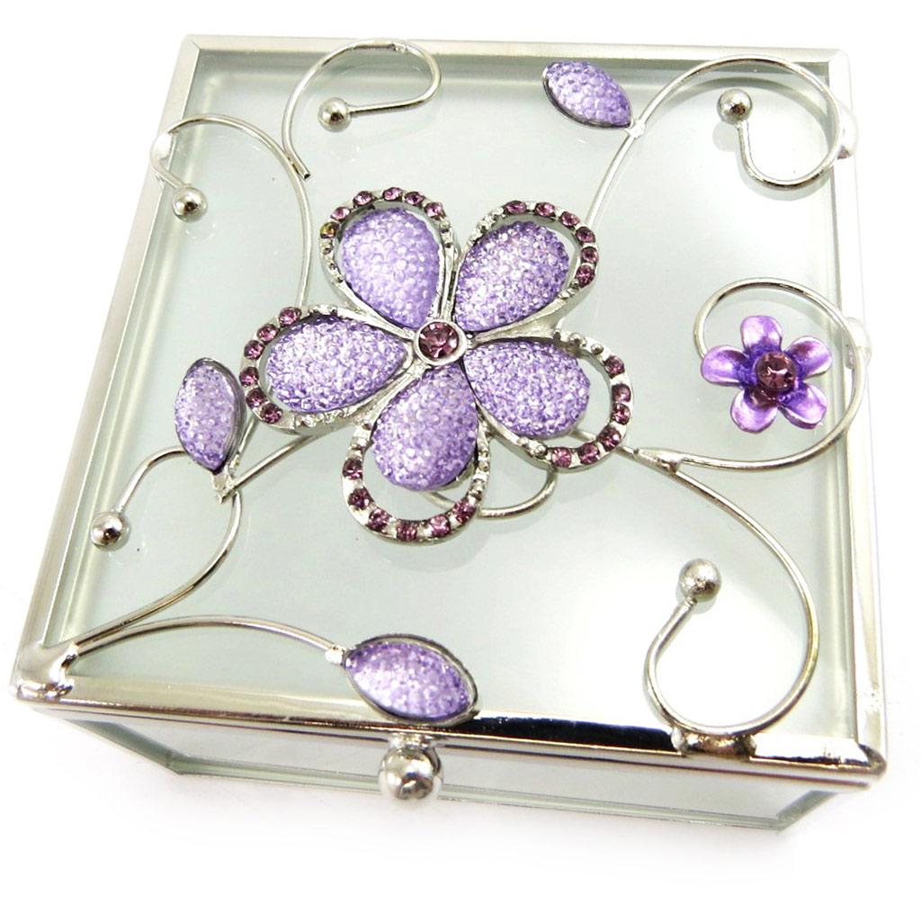 Coffret à Bijoux \'Belle de Soie\' violet - [L6490]