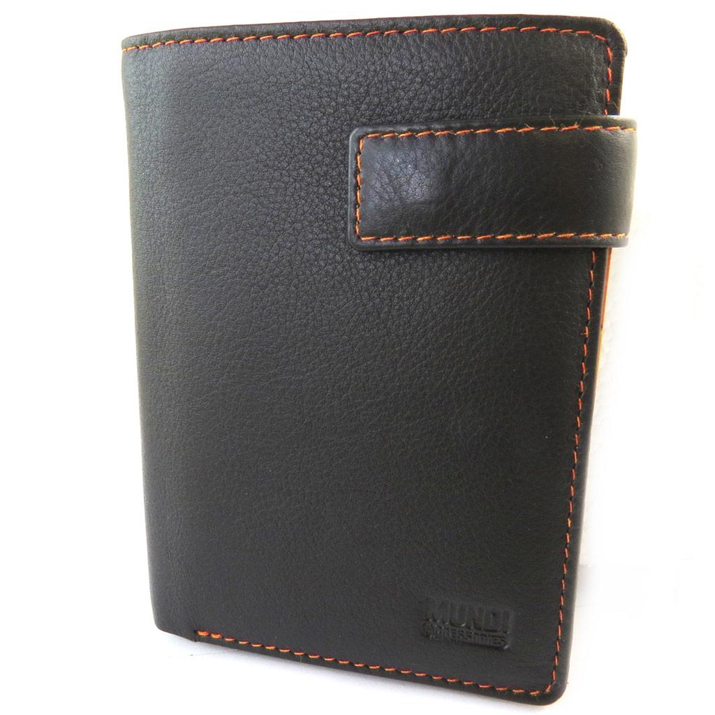 Portefeuille européen cuir \'Mundi\' marron - 125x95 cm - [N5792]